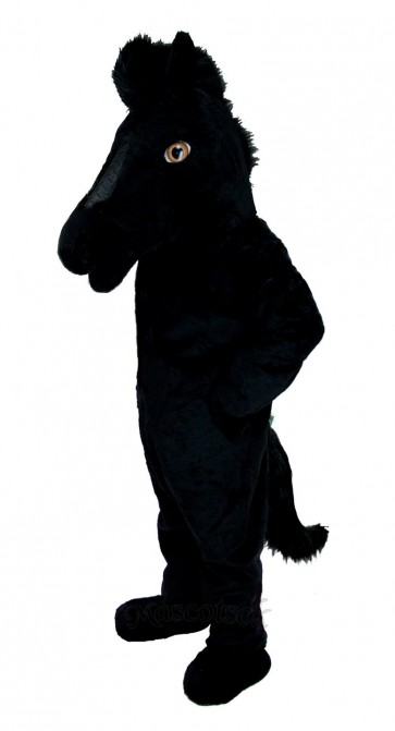 Black Mustang Horse Mascot Costume