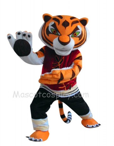 Tigress Tiger Kung Fu Panda Mascot Costume Fancy Dress Outfit