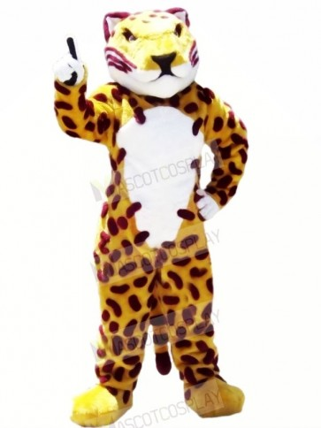 Fierce Brown Jaguar Mascot Costumes