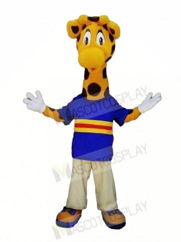 Cute Giraffe with Big Eyes Mascot Costumes Animal