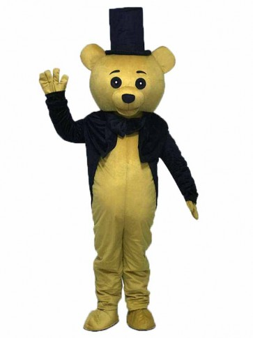 Ritual Bear Adult Mascot Costume Brown Teddy Bear Gentleman Suit