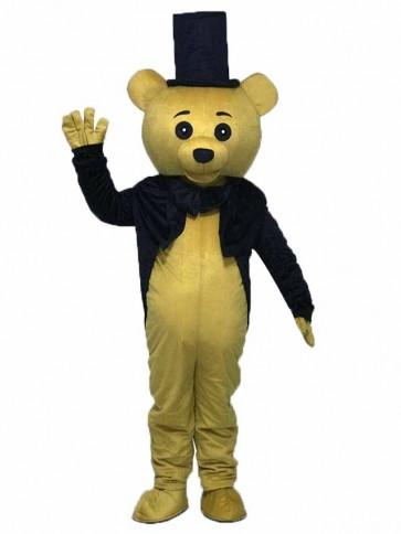 Ritual Bear Adult Mascot Costume Brown Teddy Bear Gentleman Suit