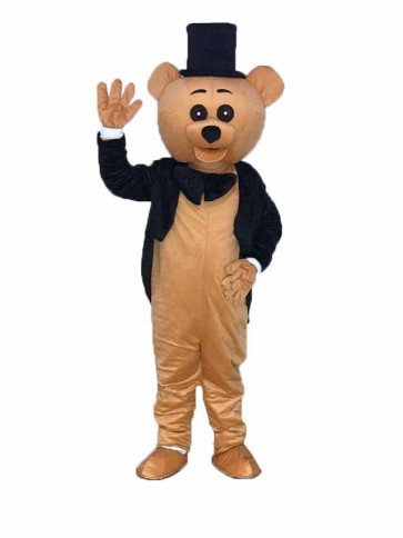 Ritual Bear Mascot Costume Brown Teddy Bear Gentleman Suit