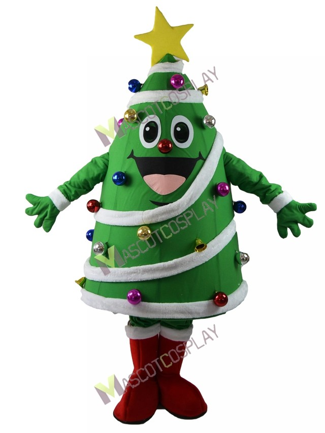 sc 1 st  MascotCosplay.com & Christmas Tree Mascot Costume with Star Color Balls Bell Decoration