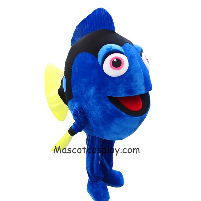 finding nemo dory blue fish mascot costume cartoon character halloween