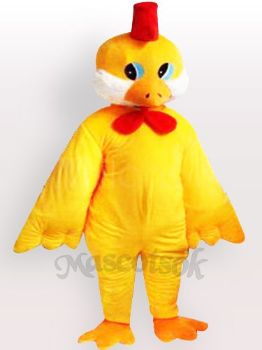 & Yellow Little Chicken Adult Mascot Costume