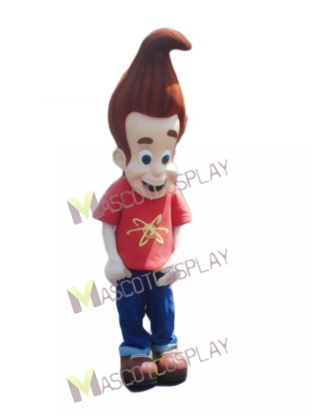 Jimmy Neutron Boy in Orange Shirt Mascot Costume