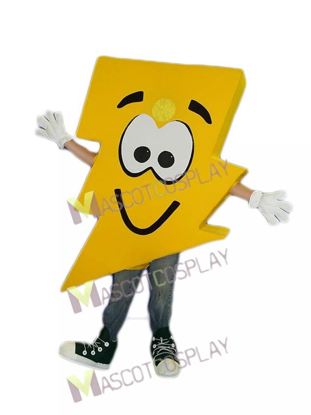 lightning bolt mr electric lightning bolt mascot costume