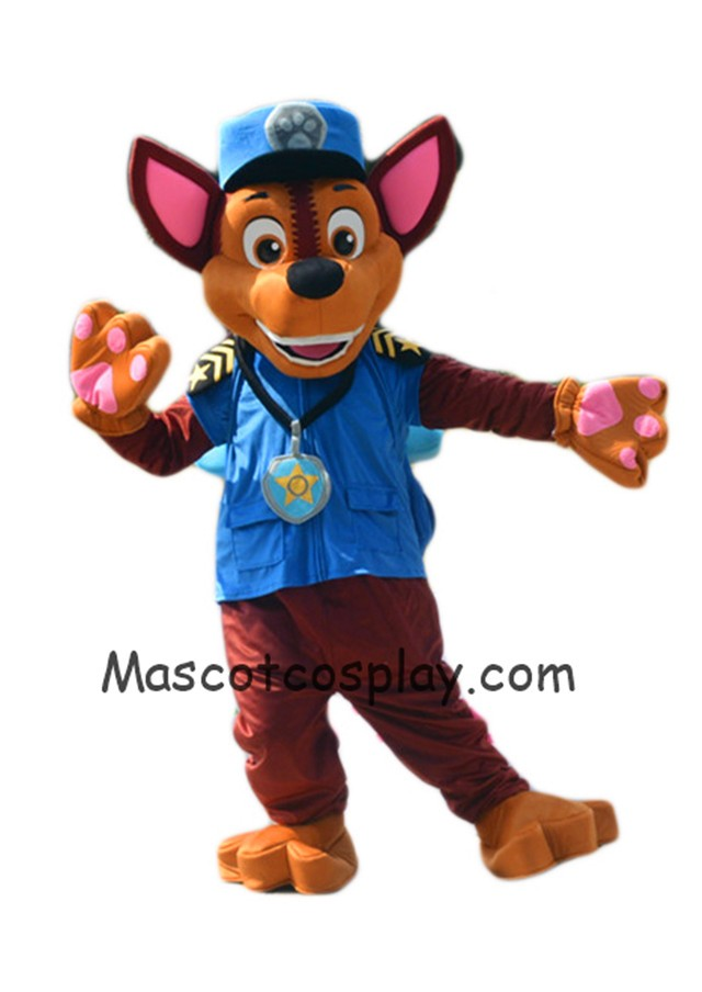 paw patrol chase dog mascot costume german shepherd puppy police and