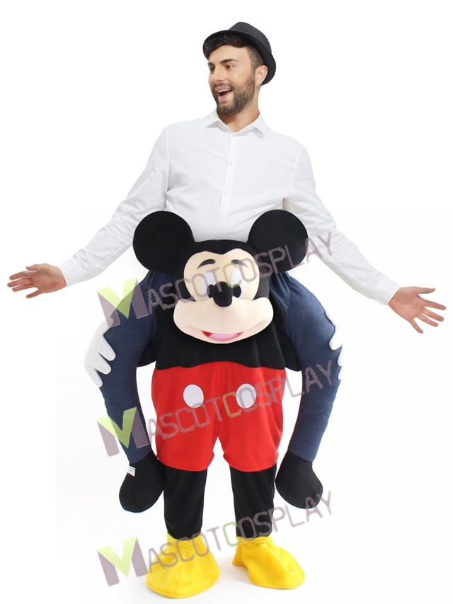 piggyback mickey mouse carry me ride mouse mascot costume. Black Bedroom Furniture Sets. Home Design Ideas