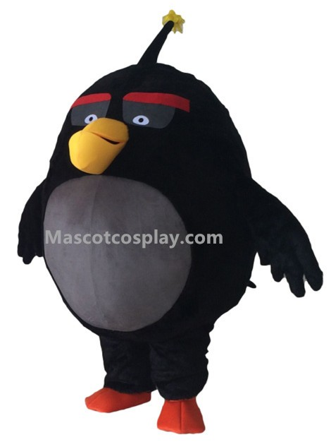 movie black angry birds bomb mascot costume. Black Bedroom Furniture Sets. Home Design Ideas