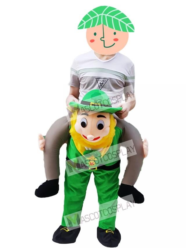 Adult One Size Piggy Back Leprechaun Costume For Fancy Dress Party
