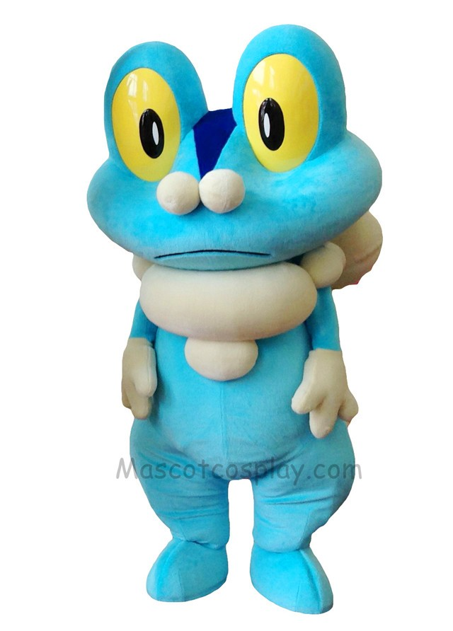 Blue Frog Froakie Mascot Costume Pokemon Pokmon GO Pocket