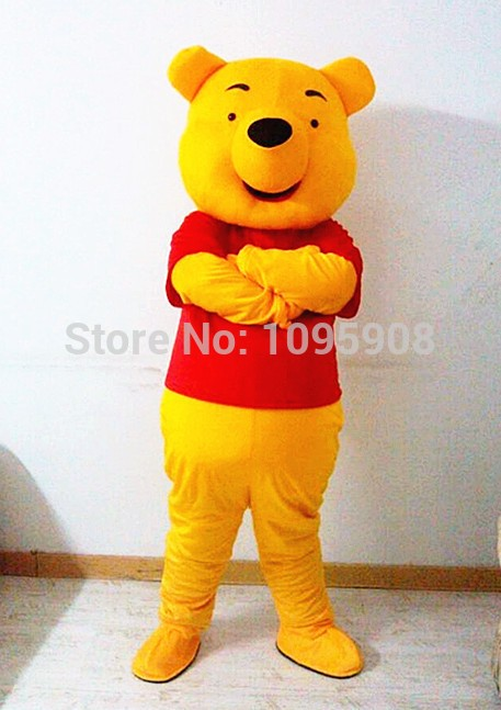 afade18f2bc5 ... Pooh Bear Mascot Costume Adult Party Carnival Christmas Mascot · Zoom