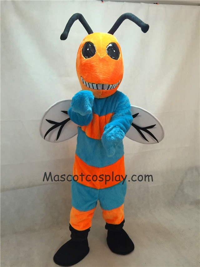Orange and Blue Bee Mascot Costume : bee mascot costumes  - Germanpascual.Com
