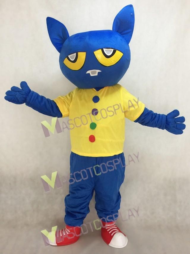 Blue Pete the Cat Mascot Costume & Hot Sale Adorable Realistic New Blue Pete the Cat Mascot Costume ...