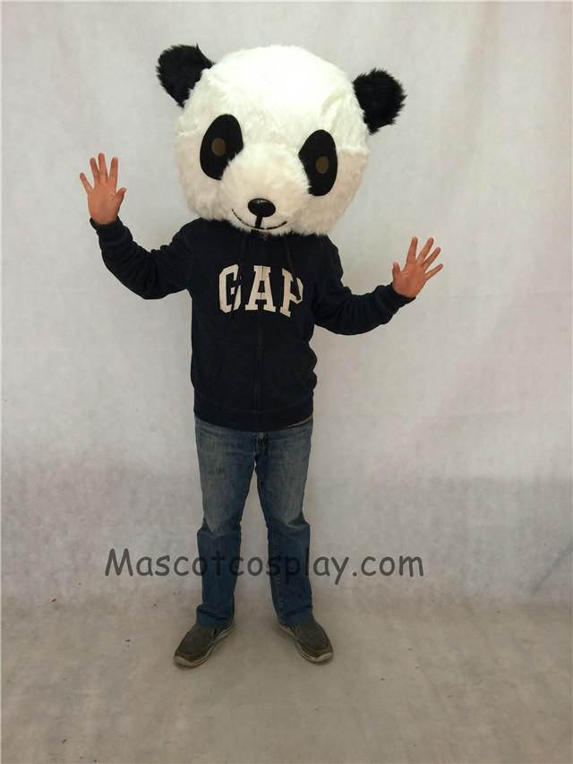 high quality realistic new friendly black and white panda plush