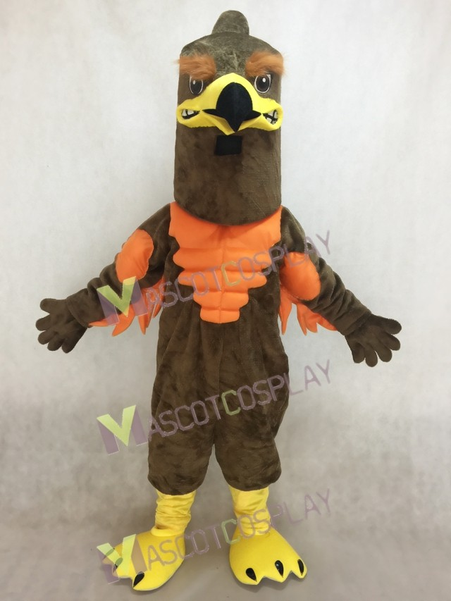 cute power muscle majestic hawkfalcon mascot costume