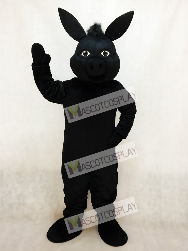 & Black Donald Donkey Mascot Costume