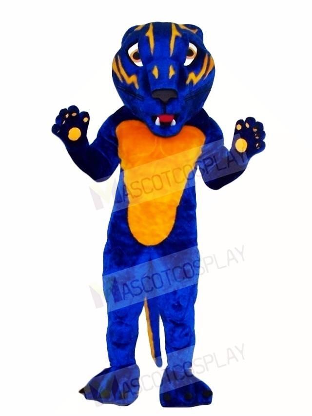 Fierce Blue Bearcat Mascot Costumes Animal