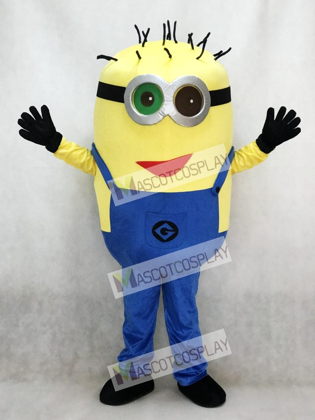 Green And Black Eye Despicable Me Minions With Red Mouth Mascot