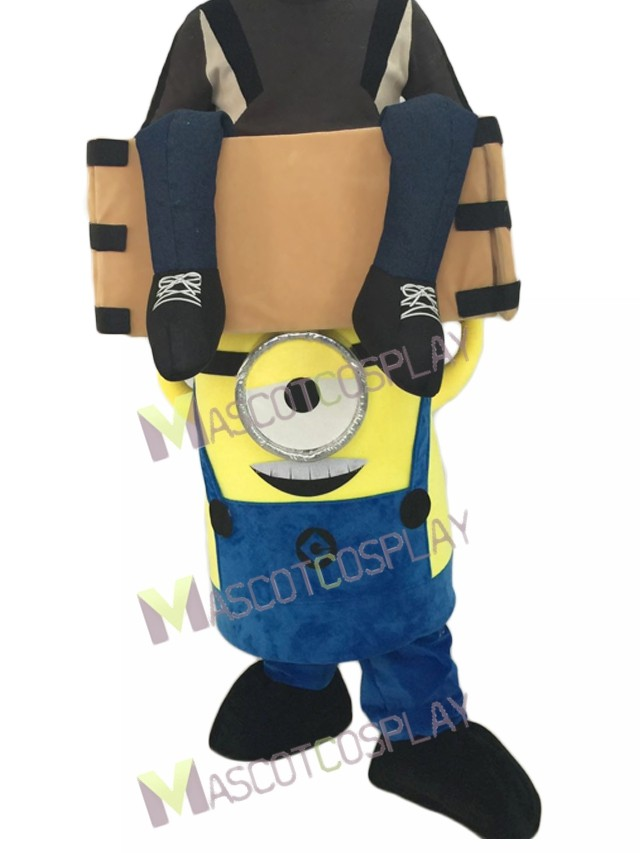 Zoom  sc 1 st  MascotCosplay.com & Despicable Me Piggyback Minions Carry Me Ride on One Eye Minions ...