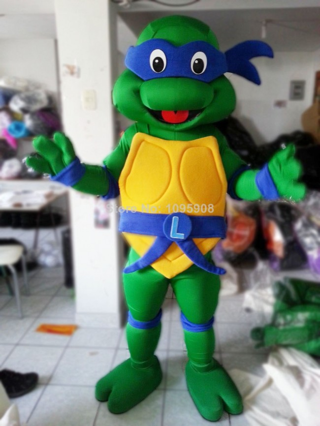 tmnt teenage mutant ninja turtle mascot adult character halloween party carnival costume