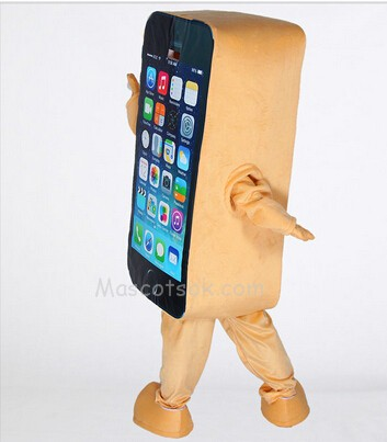 Home Cell Phone Apple iPhone Mascot Costume Fancy Dress Outfit