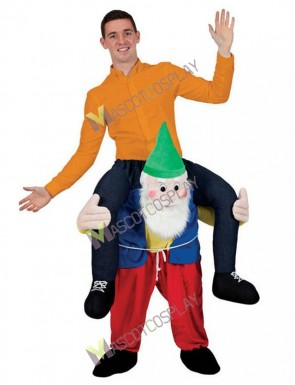 Adult Back Shoulder Garden Gnome Carry Me Mascot Ride Costume Stag Fancy Dress Christmas Funny Outfit Kids Children