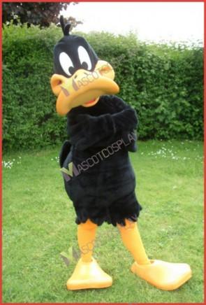 Daffy Duck Mascot Costume Black Duck with Yellow Duck-Bill