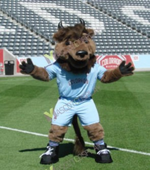Team Sport Mascot MARCO VAN BISON Mascot Costume Halloween Christmas Party Outfit