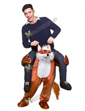 Carry Me Fantastic Fox Piggy Back Mascot Costume Ride On Funny Fancy Dress