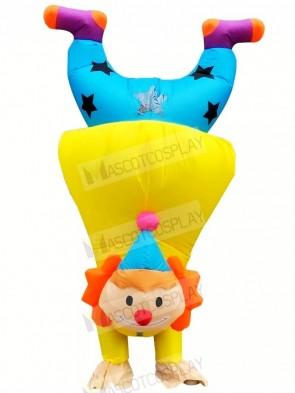 Funny Upside-down Handstand Clown Buffon Inflatable Mascot Costumes Cartoon