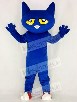 Funny Blue Pete Cat Mascot Costume School