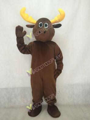 Brown Milton Moose Mascot Costume
