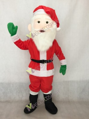 Santa Claus with Hat and Gloves Mascot Costume