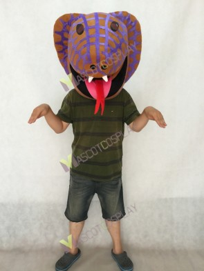 HEAD ONLY Cobra in Purple Mascot Costume