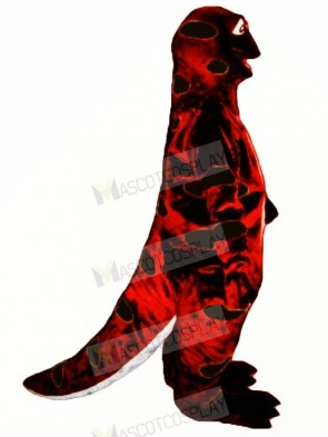 Red and Black Sally Salamander Mascot Costume