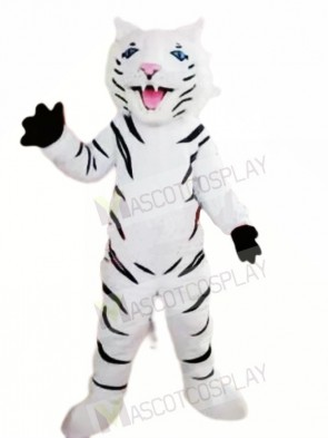 Fierce White Tiger Mascot Costumes