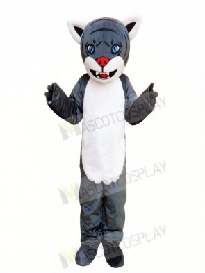 Grey Cartton Tiger Mascot Costume Free Shipping