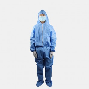 Protective Clothing Non-Woven Dustproof Overalls In Stock