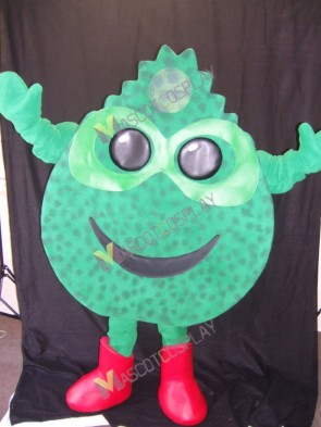 Farmer Green Grass Mascot Costume in Red Boots
