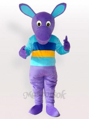 Purple Kangaroo Adult Mascot Costume
