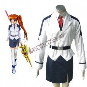 Mahou shoujo Magical Girl Lyrical Nanoha Takamachi Cosplay Costume