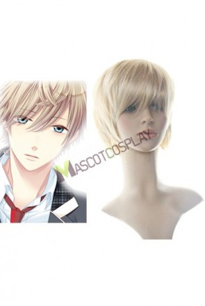 40cm Golden Flax Mixed Starry Sky Nylon Cosplay Wig