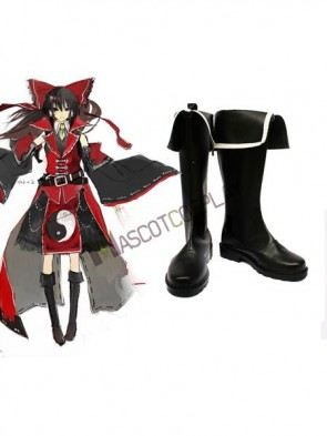 Koumajou Densetsu Hakurei Reimu Imitated Leather Cosplay Shoes