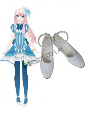 Vocaloid Luka Imitated Leather Cosplay Shoes