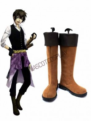 Hakuouki Toudou Heisuke Imitated Leather Cosplay Shoes