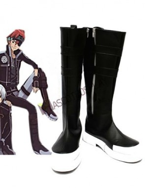 DGRAYMAN Black 1 3/5'' Heel Faux Leather Cosplay Shoes