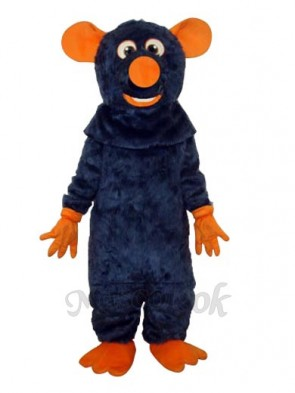 Big Tooth Black Plush Mouse Adult Mascot Costume(Revised)